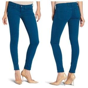NWT Lucky Brand Satin Peacock Charlie Skinny Jeans
